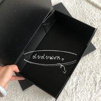 27x17x8cm Black Color Paperboard Pliez-vous Coffret Coffret Coffret Imprimé Lettre Jewerly Storage Boîtier Magnétique Fermeture magnétique