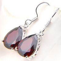 Große Förderung LuckyShine Handgemachtes Rechteck Brasilien Citrin Edelstein 925 Sterling Silber für Frauen Tropfen Ohrringe Hochzeit Ohrringe 1 'Zoll