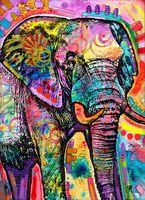 Peinture à l'huile d'éléphant sur toile Décor à la maison Pain-à-tête HD Imprimé HD Picture Picture Personnalisation est acceptable 21062126