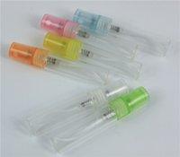 100pcs lot 5ML Colorful Mini Portable Glass Perfume Bottle With Parfum Cosmetic
