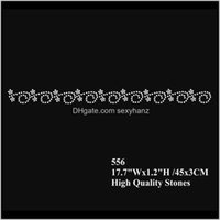 Sewing Notions Tools Apparel Drop Delivery 2021 17Dot7 Inches Flower Lace Fix Rhinestone Motif Iron On Transfers 30Pcslot Bpghg