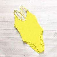 Two-piece Suits Plus Size Swimwear Women Cross Back One Piece Swimsuit Bathing Bodysuit High Cut Beach Wear Custom Text Maillot De Bain Femm