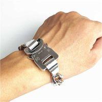 New Alyx Hero Chain Bracelet Belts Metal Button Titanium Steel Hight Quality Streetwear Alyx Necklace Accessories Q0717