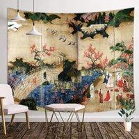 Гобелены Вид на кленовые деревья вдоль реки Кийотаки Такао ТУ окрашены в гобелен интерьер Искусство стены в Северном Киото