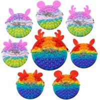 Kawaii Cute Bag Fidget Toys Push Bubble Stress Reliever Rainbow Simpl Dimmer Antistress Children Sensory Toy Backpack