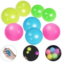 Party Decoration 4pcs Sticky Globbles Ball Toy Fluorescent Target Stress Relief Funny Decompression Gift For Kids Adults