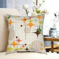 Cushion Decorative Pillow Eames Era Geometric Line Art Pillowcase Printing Polyester Cushion Cover Gift Mid Century Throw Case Home 45X45cm