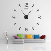 Wall Clocks Modern Design Home Decoration For Living Room Clock DIY Acrylic Sticker Creative Quartz Watch