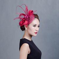 Fascinateur de mariée de qualité supérieure Philippines Chapeau Sinamay avec plumes pour la fête de mariage de Kentucky Derby