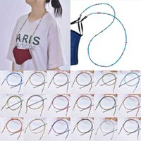 DHL Face Mack Holder Beaded Necklace Non-slip Lanyard Decorative Fashion Protection Rest Relieve Ear Pressure OWF1055