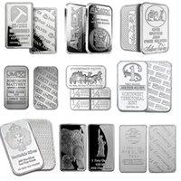 Eşsiz Fiyat Karışık 10 adet / grup Manyetik Olmayan Aslan Bar + Bulls Gümüş Bar + Silvertowne + Gümüş Kaplama Kuzeybatı
