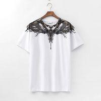Macelo Burlon Überseas Mode Marke Grau Wassertropfen MB Wing Kurzarm T-Shirt Halbhülse Für Männer und Frauen
