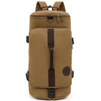 Backpack Durable Canvas Men Outdoor Hiking High Quality Male Casual Climbing Crossbody Bags Luxury Design Top Handle Bag