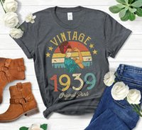 Women's T-Shirt Vintage 1939 Original Parts Retro With Mask Quarantine Edition Tshirt Funny 82st Birthday Gift Colorful Printed Shirt Tops G