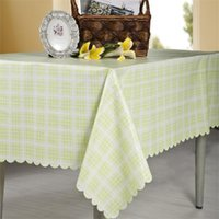 Table Cloth Waterproof Tablecloth Light Green Plaid Home Decor 16 Sizes Dining Dustproof Cover Tea Study Desk Covers Mats