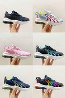 kids Cushion 270 React Eng Running Shoes Burgundy Aliens Scotts Neon Photo Dust Boy girl Children Sneakers