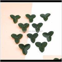 200Pcs Fake Leaves Christmas Decor For Home Wedding Diy Gifts Box Decorative Flowers Wreaths Silk Green Leaf Artificia Qylrpv Ot7Cn 0Txgp