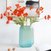 Decorative Flowers & Wreaths Beautiful Vivid Color 4 Heads Silk Fake Simulation Poppies Artificial Flower For DIY Wedding Party Home Decorat