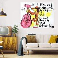 ES IST NIE ZU Pintura al óleo grande en lienzo Decoración para el hogar Handcrafts / HD Imprimir Wall Art Fotos Personalización es aceptable 21070611