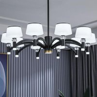 Modern Fashion Designer Black Gold Led Ceiling Art Deco Suspended Chandelier Light Lamp For Kitchen Living Room Loft Bedroom Pendant Lamps