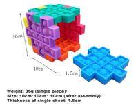 High quality Anti Stress Puzzle Pop Fidget Toy Favor Push Bubble Sensory Silicone Kids Rubik's Cube Squeezy Squeeze Desk Decompression