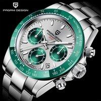 Relojes de pulsera Pagani Design 2021 Cronógrafo Cronógrafo Sport Watches Men Luxury Quartz 100m Reloj impermeable Relogio Masculino PD-1644