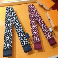 Designer Mode Frauen Schal High-End-Markenschals Klassische Handtasche Schals Stirnband Hohe Qualität Seidenmaterial Gedruckt Brief Halstuch 8 * 120 cm