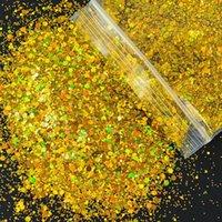 Nail Glitter 1Bag 50g Iridescent Holographic Sequins Paillette Flakes Sparkly 3D Art Decor