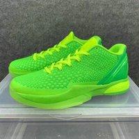 Zoom 6 протро зеленый яблоня мужская обувь рождественские гринч ммба вольт малиновый черный человек баскетбол спортивные кроссовки