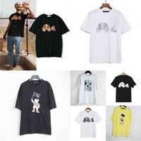 Moda Yaz PA Erkekler ve Bayan T-Shirt Mans Palms Stylist Tee Giyotin Ayı Baskılı Kısa Kollu Kesilen Ayılar Melekler Tees N5FT #