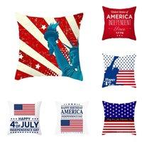 American Independence Day Pillow Case Automobile e Divano Cuscino Cover Decorazioni per vacanze Decorazione domestica 45 * 45cm T500626