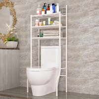 Hooks & Rails Over The Rack Stainless Steel Toilet Cabinet Shelving Kitchen Washing Machine Bathroom Space Saver Shelf Organizer Holder
