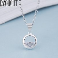 Bohemia Fashion 925 Sterling Silver Rhinestone Circle Necklaces For Women Gift Boho Statement Necklace Wedding Jewelry Bijoux Chokers