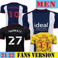 2021 2022 West Grady Diangana Soccer Jersey Home 2122 Men Bromwiches Football Shirts GRAND MOWATT MATT PHILLIPS LIVERMORE Brom Kids Kit Set Away Black Albion Yellow