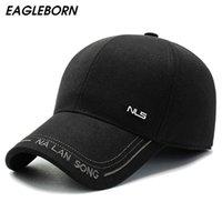 2020 eagleborn جديد قبعة قبعة الرجل الشتاء قبعة قبعة بيسبول جديد الشتاء الكلاسيكية أبي قبعة قبعات خفية الأذن الدافئة فيلم ستار كاب windproof