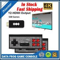 Veri Kurbağası USB Oyun Konsolları Kablosuz Taşınabilir Video Oyun Oyuncu 568 AV 600 Retro Klasik Oyunlar El Eğlence Joystick