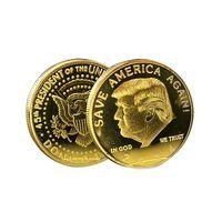 금과 실버 트럼프 2024 동전 기념 공예가 아메리카를 다시 저장 금속 배지 496