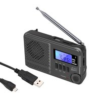 Radio Digital LCD Screen Audio Full Band Handheld USB Rechargeable AM FM MP3 Music Playback Stereo Sound Antenna Multifunctional