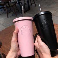 Tazza da caffè in acciaio inox da 500ml Starbucks con tazza di caffè con tazza di bottiglia da viaggio paglia migliori prodotti regalo Prezzo all'ingrosso