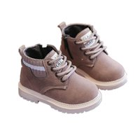 Kids Boots Baby Shoes Childrens Footwear Boys Girls Short Shoe Autumn Winter Leather Toddler Wear Warm B8973