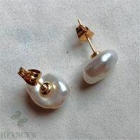 패션 화이트 컬러 바로크 진주 18K 골드 귀걸이 재배 보석 오로라 비드 성격 mesmerizing DIY 고귀한