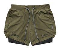 ASRV Mens работает шорты спортивные брюки мужские двойные палубы быстрые сушильные фитнес мужские брюки бегагинг спортзал короткие штаны мужские летние летние