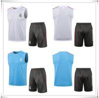 2021 Real Madrid Soccer Jersey Shorts Sem Mangas Vest Mbappe 21 22 Survence Sweater Inter Tracksuit Treinamento Terno Conjunto de Chandal