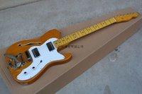 2014 جديد وصول مخصص الغيتار f-tl telecaster الجاز 6 سلاسل الخشب لون الغيتار الكهربائي مع كبير الروك @ 15