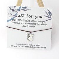 Charm Bracelets Wish Bracelet Lucky Koala Cute Card Friendship Jewelry For Women Men Friend Gifts