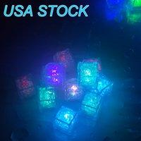 밤 빛 색상 변경 노란색 LED 광선 조명 아이스 큐브 파티 호의 다채로운 플래시 LED 빛나는 결혼식 FESTIVALUASLINHT 미국 주식