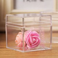 Clear Acrylic 5 Sided Jewelry Display Storage Box Case Square Cube Props Pouches, Bags