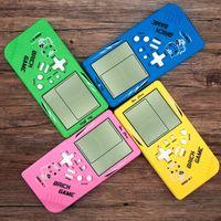 Ручные игроки игроков портативные консоли Tetris ЖК-экран электронные игрушки карманные игры консоли классический детский подарок