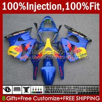 Cuerpo de molde de inyección para Kawasaki Ninja Nuevo ZZR600 ZZR-600 600 CC 05-08 Carrocería 100% FIT 38HC.183 Amarillo rojo nuevo ZZR 600 2005 2006 2007 2008 600cc 05 06 07 08 Kit de carenado OEM