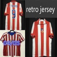 2003 2004 2005 Retro Centenario Jerseys de fútbol Torres Simeone Kiko Caminero Futbol Vintage Fútbol Camisetas Camisa clásica Maillots Madrid